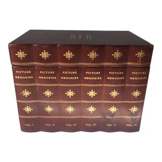 Vintage Florentine Gilt Leather Storage Box