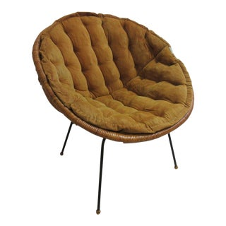 Mid-Century Wicker Hoop LoungeChair