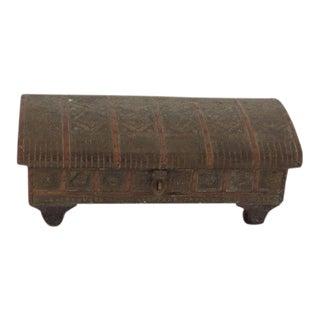 Antique Brass Indian Box