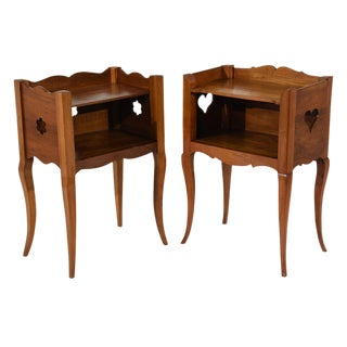 Traditional Antique French Provincial-style Night Stands -- A Pair