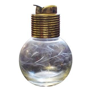 Evans Mid Century Glass Cigarette Lighter