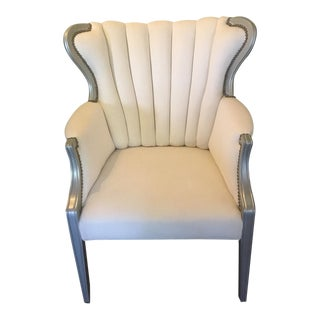 Upholstered Channel Back Chair