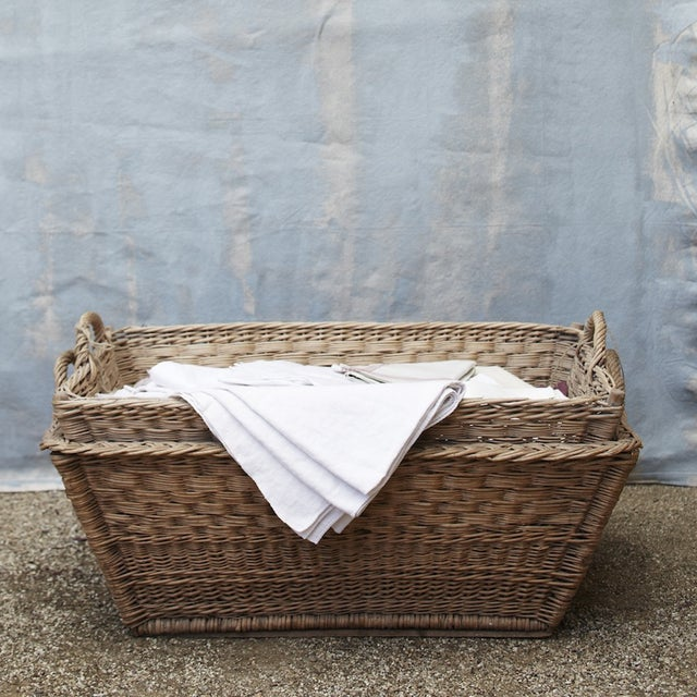 Vintage French Laundry Day Basket - Image 6 of 7