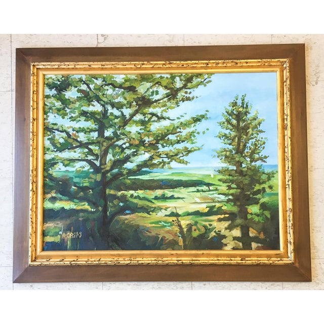 Modern Acrylic Framed Landscape Painting by John-Richards - Image 2 of 6