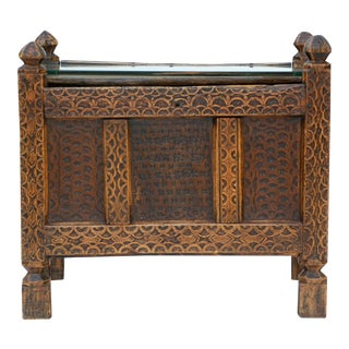 Antique Swat Valley Carved Chest