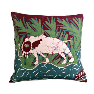 Handmade Batik Elephant Pillow