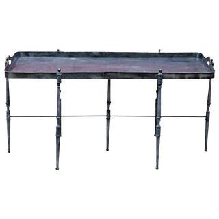 Metal Tray Top Coffee Table