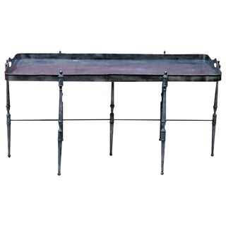 Metal Tray Top Coffee Table