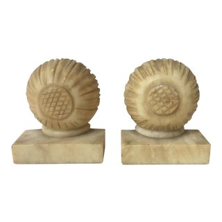 Onyx Sunflower Bookends - A Pair