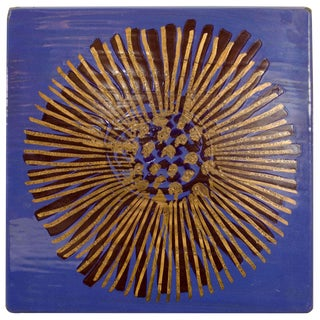 Blue Enameled Wall Art by Gustavsberg