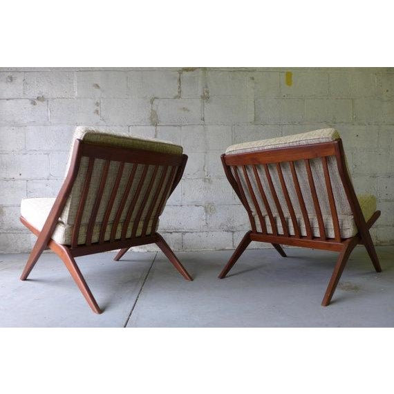 Mid Century Modern Scissor Lounge Chairs - Pair - Image 6 of 6