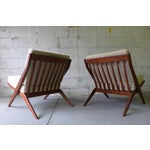 Image of Mid Century Modern Scissor Lounge Chairs - Pair