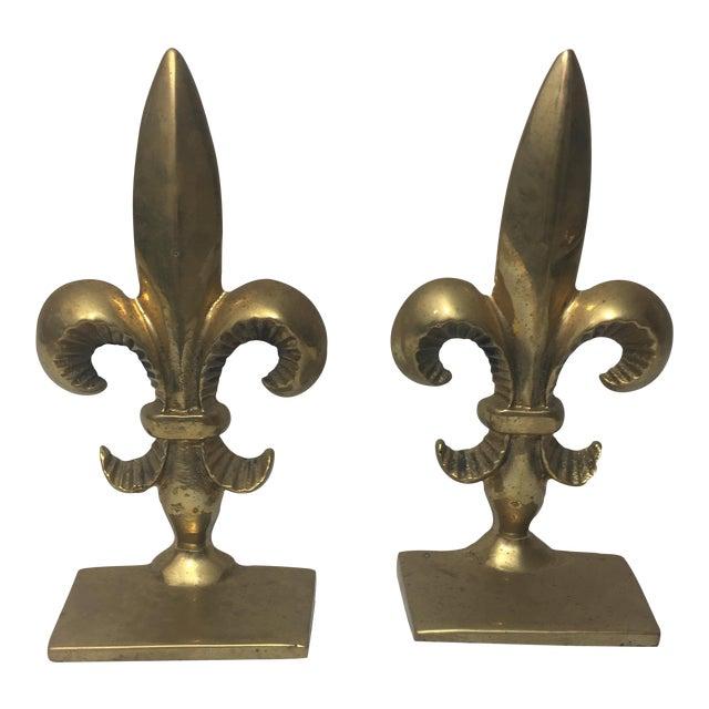 Brass fleur de lis bookends a pair chairish Fleur de lis bookends