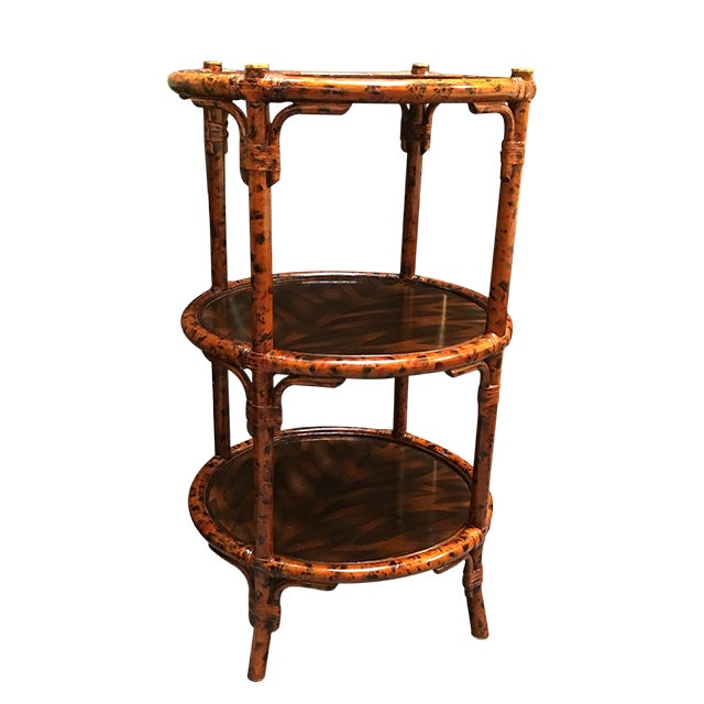 Image of Three-Tiered Bamboo Accessory Table