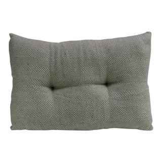 Teal Zig-Zag Handloom Pillow