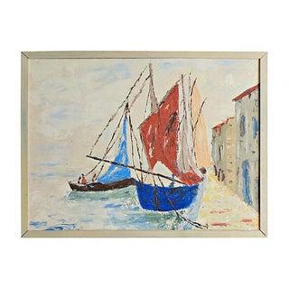 Impasto Painting of Venetian Boats