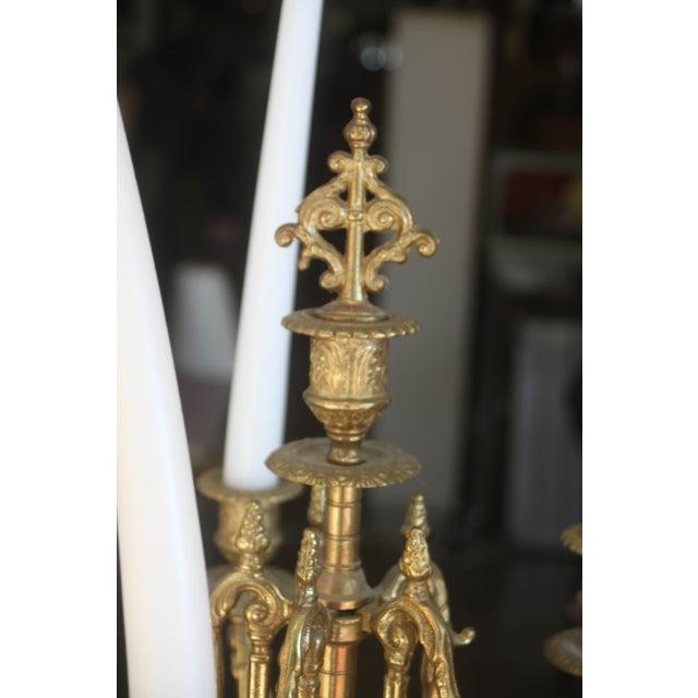 Baroque Italian Bronze Candelabras - A Pair - Image 5 of 10