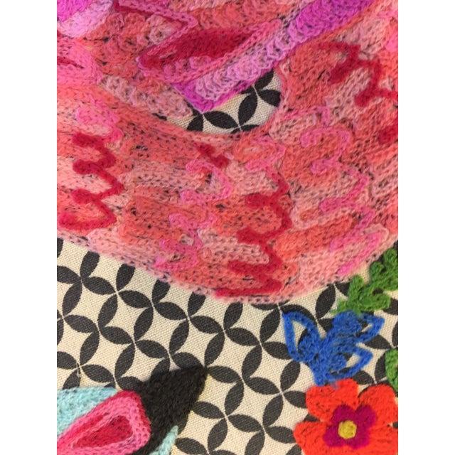 Flamingo Textile Art - Image 3 of 4