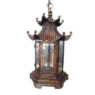 Pagoda Style Light Fixture