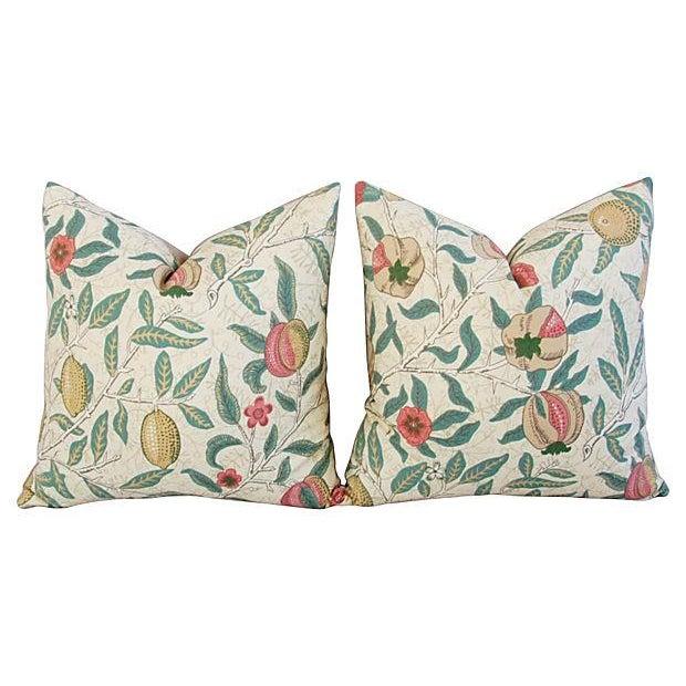 William Morris & Co Fruit Pillows - Pair - Image 1 of 7