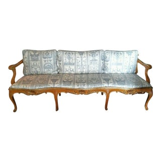 Vintage French Provincial Louis XVI Sofa Bench