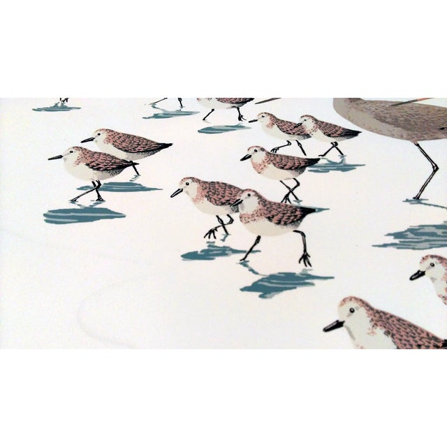 "Frank Logan ""Chasing Waves"" Shore Birds Serigraph - Image 7 of 9"