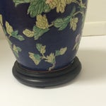 Image of Chinoiserie Blue Floral Ginger Jar Lamp