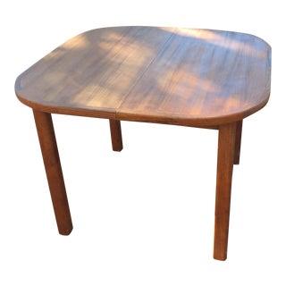 Danish Modern Wood Hidden Leaf Dining Table