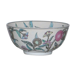 Chinese 9 Peaches Hand Painted Bowl