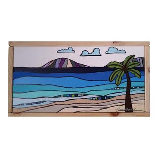"""Beach in Hawaii III"" Original Block Art by Kris Gould"