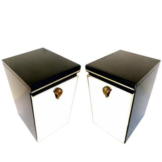 Vintage Ello Mirrored Nightstands - Pair