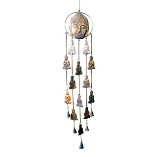 Long Buddha Recycled Brass Wind Chime Wall Art