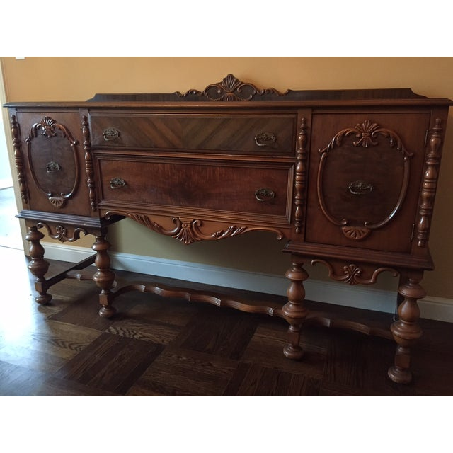 Traditional Mahogany Stained Hardwood Buffet - Image 2 of 5