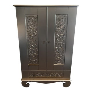Antique Silver Chelsea Armoire By Bratt Decor