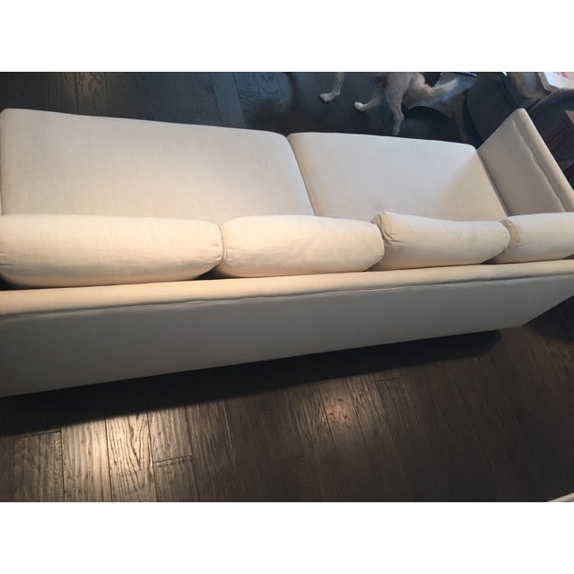 Baker Furniture Mid-Century Off-White Couch - Image 5 of 9