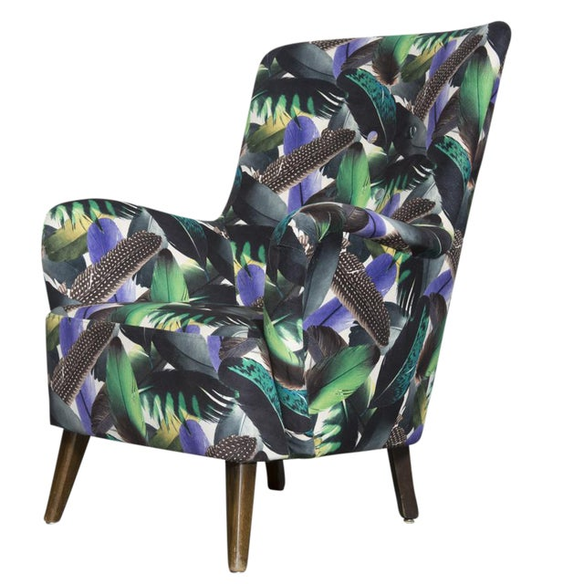 Theo Ruth Armchair Feather Upholstery - Image 1 of 10