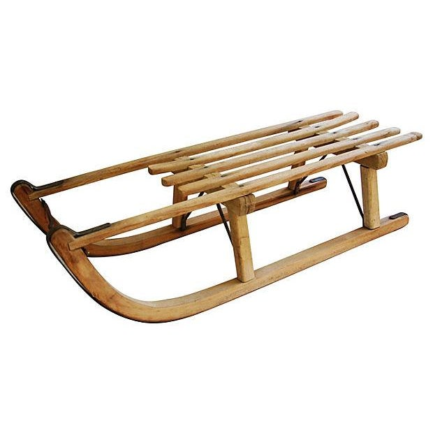 Image of Antique Early 1900s Child's Snow Sled