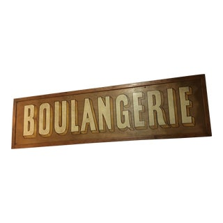 Newly Painted Boulangerie Sign