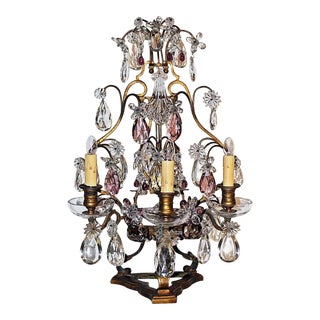 French Baccarat Girondole Lamp