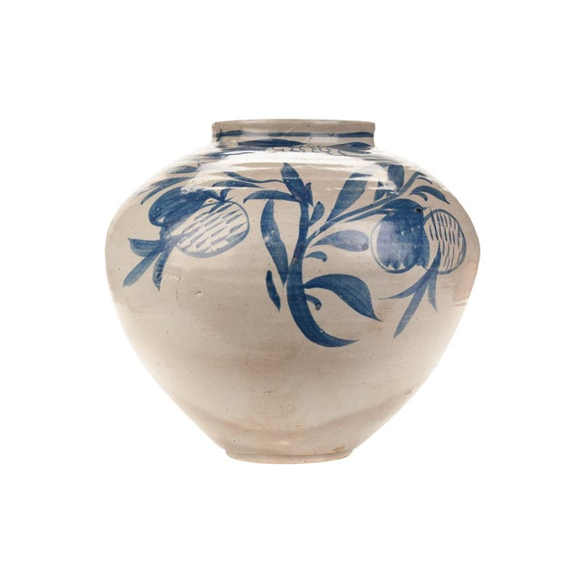 Antique Korean Blue & White Glazed Pot C.1920s - Image 1 of 9