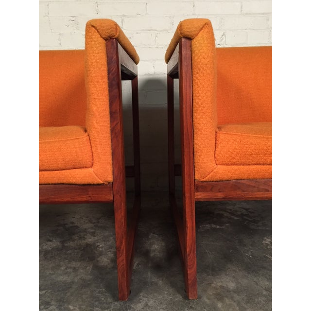 Milo Baughman Mid-Century Modern Floating Cube Chairs - A Pair - Image 9 of 10