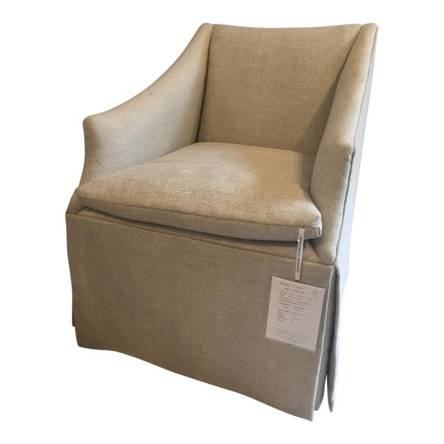 """Century Furniture Linen Skirted """"Coloney"""" Chair - Image 1 of 7"""