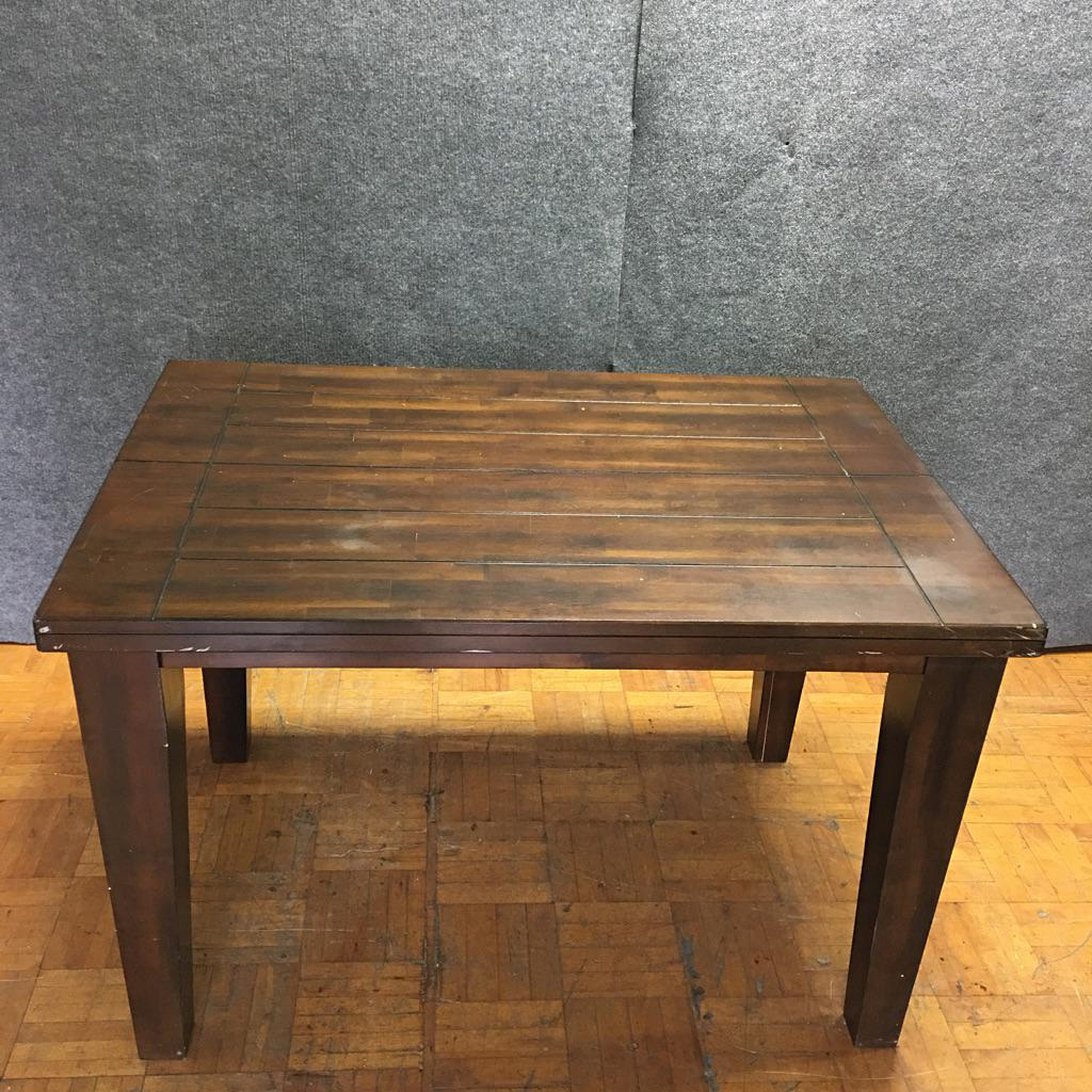 Brown Wooden Counter Height Dining Table W Butterfly Leaf  : 395e6f4b 2109 47b0 9de9 c2b6ea31ad77aspectfitampwidth640ampheight640 from www.chairish.com size 640 x 640 jpeg 80kB
