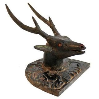 Antique Javanese Deer Head
