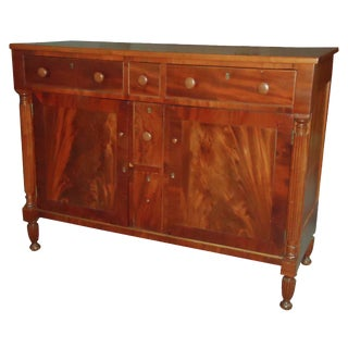 Early 19th-C. Flame Mahogany Sideboard