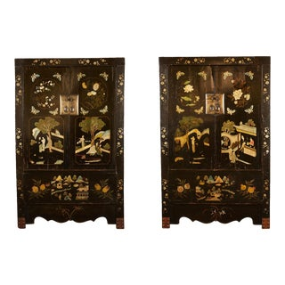 Rare Pair of 18th Century Chinese Cabinets