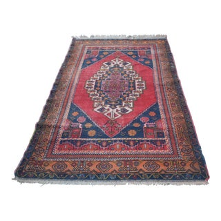Vintage Anatolian Tribal Turkish Rug - 4′5″ × 7′9″