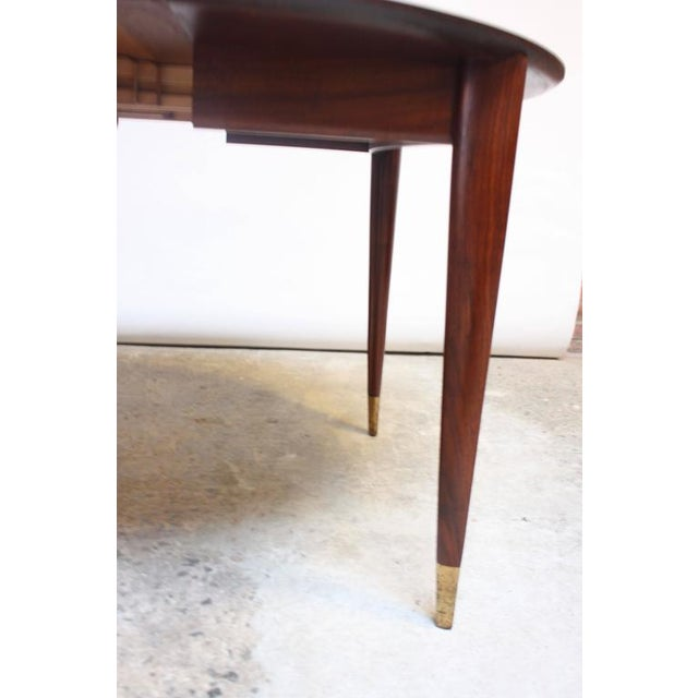 Gio Ponti Italian Walnut Dining Table for Singer & Sons - Image 5 of 11