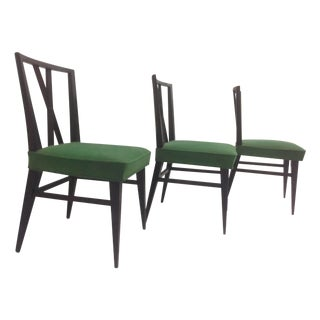 Tommi Parzinger Cross Back Dining Chairs-Pair