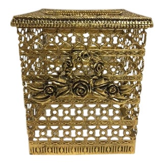 Vintage Ornate Hollywood Regency Tissue Holder